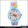 Mais novo relógio de criança banda de silicone, relógio à prova d'água