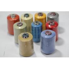 Hilo de coser teñido meta