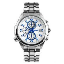 SKMEI 9107 Men's Stainless Steel Chronograph Watch