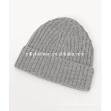 Womens wool cashmere thickening warm knitted hat