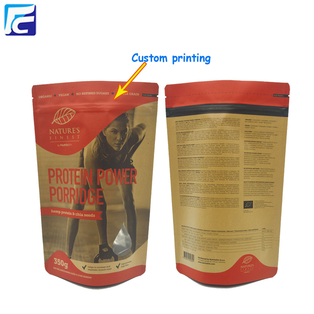 Whey Protein Powder Bags With Ziplock