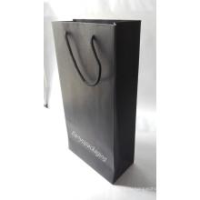Ручка Kraft Paper 150GSM для покупок, продуктов питания, одежды