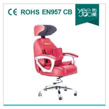 Nouveau avec fauteuil de Massage Bureau cuir d'unité centrale (YEEJOO-868A(red))