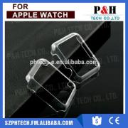 Wholesale high quality eco-friendly clear plastic protective cover case for Apple watch