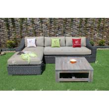 Design scandinave PE Wicker Rattan Outdoor Furniture Sofa L shape