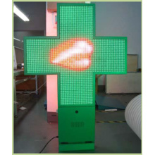 P10 Full Color 96X96 Resolution Pharmacy LED Cross