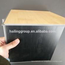 Respaldo antideslizante Glueless stone vinilo de lujo suelta piso de pvc tile