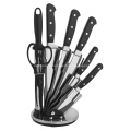 stainless steel knife block set
