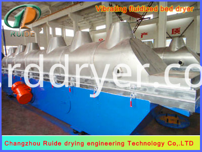 Special vibrating fluidized bed dryer for citric acid