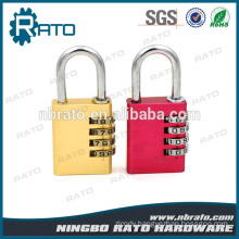 Aluminum Body Brass Cylinder Steel Shackle Nickel Finishing Padlock