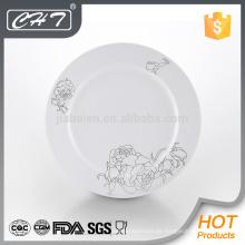 A004 Blumenkeramik-Porzellan-Teller