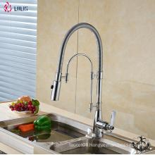 YLK234 Deck mounted flexible hose single lever kitchen mixer