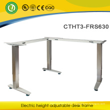 Office furniture standing desk with electric L shape steel frame alibaba express