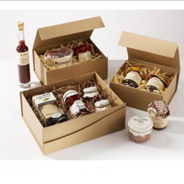Cajas de regalo profundas Kraft A4 natural sin cinta