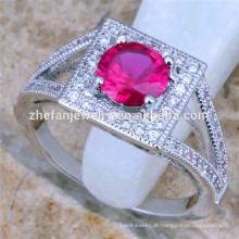 anéis de rosa vermelha anel de casamento new jersey jóias por atacado