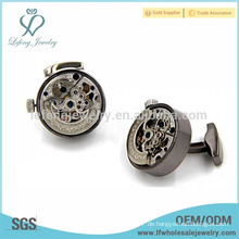 Plating Pistole schwarze Uhr automatische Wickler, mechanische Uhr Getriebe Manschettenknöpfe
