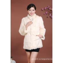 Abrigo de piel largo medio de las mujeres 2016 del desgaste del invierno de las mujeres para el sobretodo de las muchachas