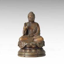 Buddha-Statue Tathagata Bronze-Skulptur Tpfx-B135