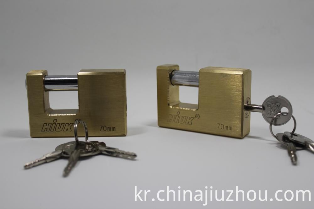 70mm Rectangle Brass Padlock Heavy Duty Padlock
