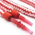 1.8m Red Striped Fur Design Acrylic Hookah Shisha Hose (ES-HH-006-2)