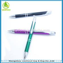 Alta calidad insignia modificada para requisitos particulares bolígrafo de aluminio por mayor