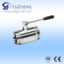 Ss Manual Thread 2 Way Ball Valve Male Thread