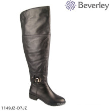Chengdu leather black knee Thigh High boots women