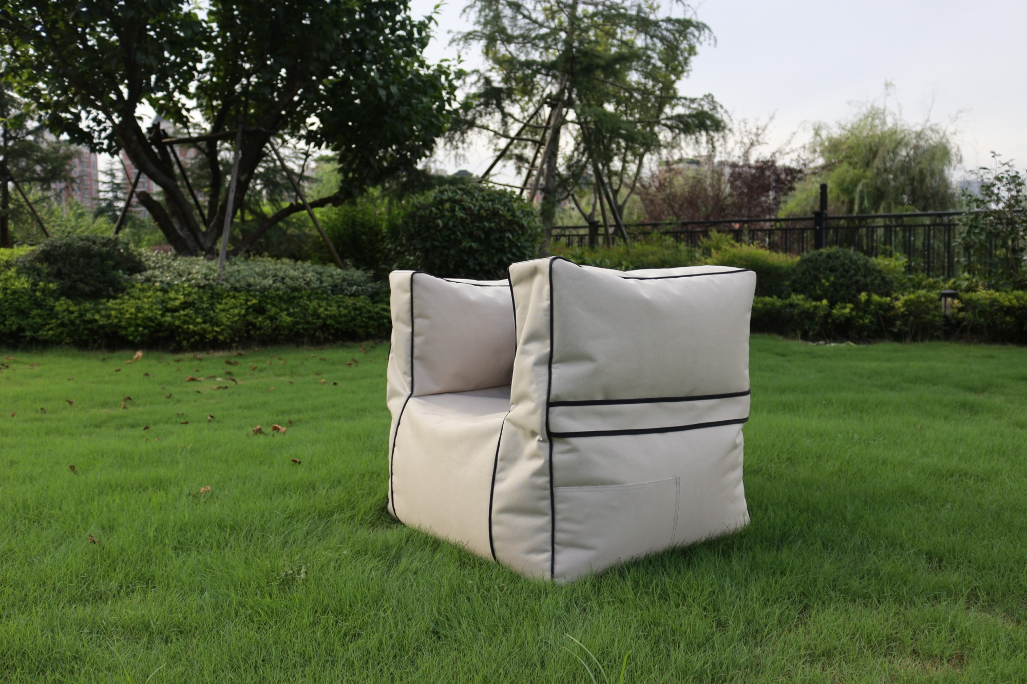 Soft adult armed chair outdoor bean bag sofa