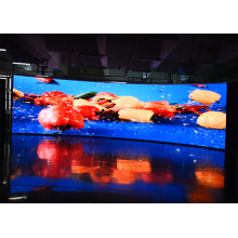 Display de LED curvo interno com alto contraste