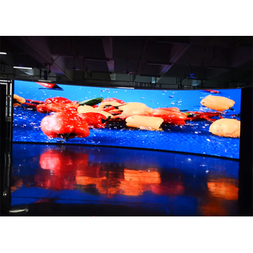 Indoor Curved LED Display with High Contrast Ratio