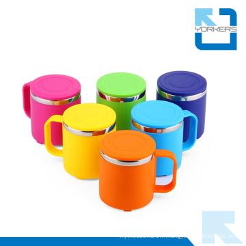 Coupe d'alcool à trois couleurs en acier inoxydable à double mur en eau pour enfants