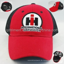 Kundenspezifischer Filz-Applique-Stickerei-Freizeit-Ineinander greifen-Fernlastfahrer-Hut (TRNT048)