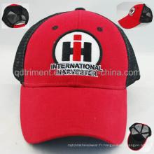 Chapeau de casquette de maillot de loisirs à la broderie en applique à feutre personnalisé (TRNT048)