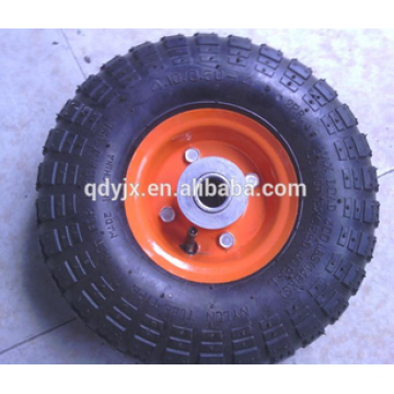 plástico o borde de acero caucho rueda neumática