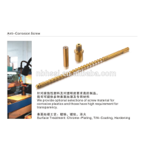 anti-corrosion injection machine screw