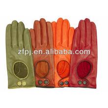 Heißer Verkauf Dame-Art- und Weiseschaffell-Fahrmotorräder lederne Handschuhe