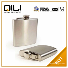 Hot sale custom 6oz hip flask, rubber coating stainless steel hip flask