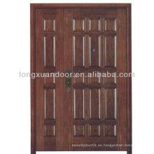 Puerta doble de madera a prueba de fuego para la venta, BS estándar