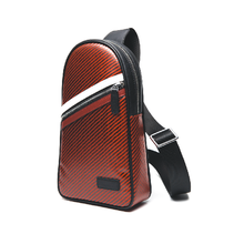 Red carbon fiber chest pack