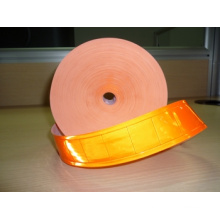 orange high visibility PVC reflective crystal tape