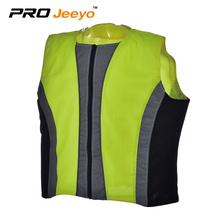 en471 reflective fabric vest with silver tape and zipper