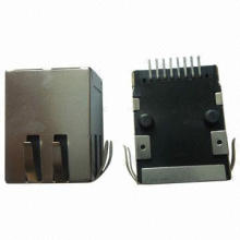 RJ45 Jack Connectors with Transformer, SMT Version, No LED, EMI or Without