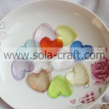 6*36*38MM random Clear mixed color Acrylic Plastic Heart Charm Beads Purchase