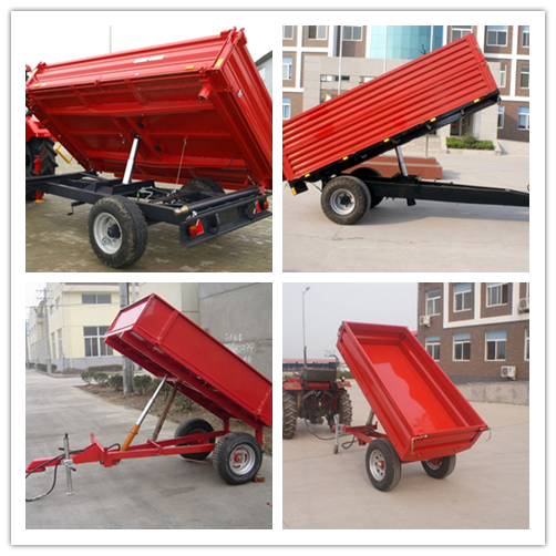 Red Small Trailer