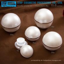 YJ-O Serie 5g 15g 30g 50g 70g klassische Kugel geformten Acryl Creme Tiegel