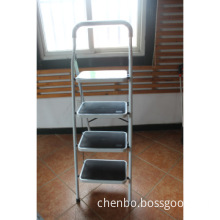 Step ladder with steel