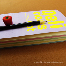 Impression de journal personnalisé de belle couverture de papier de design fantaisie