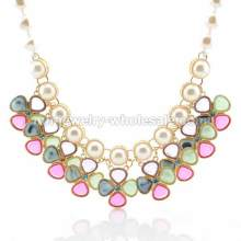 Bol incrustation faux perle Windmill forme charmes mignon Collier Necklace