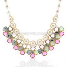 Чаша инкрустация поддельный жемчуг цепь мельница форму милые прелести ожерелье