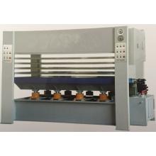 Máquina de compresión térmica con revestimiento de madera
